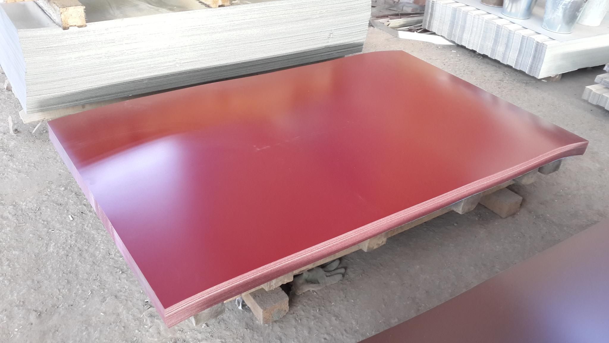 Сталь оцинкованная окрашенная 0,4*1250 мм с полимерным покрытием