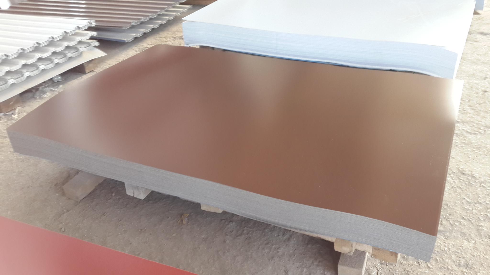Сталь оцинкованная окрашенная с полимерным покрытием