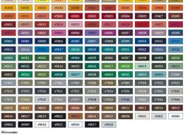 металлочерепица все оттенки и цвета RAL